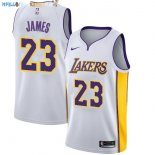 Maillot NBA Enfant Los Angeles Lakers NO.23 Lebron James Blanc Association Pas Cher