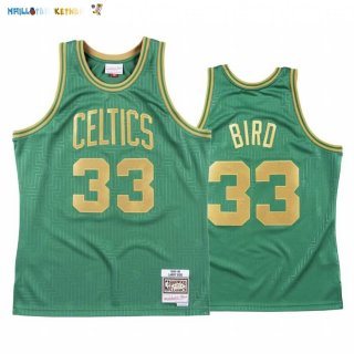 Maillot NBA CNY Throwback Boston Celtics NO.33 Larry Bird Vert 2020