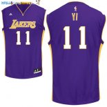 Maillot NBA Los Angeles Lakers NO.11 Yi Pourpre Pas Cher