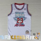 Maillot NBA 1992 All Star NO.23 Michael Jordan Blanc Pas Cher