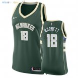 Maillot NBA Femme Milwaukee Bucks NO.18 Jordan Barnett Vert Icon 2018 Pas Cher