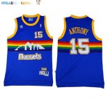Maillot NBA Denver Nuggets NO.15 Carmelo Anthony Bleu Pas Cher
