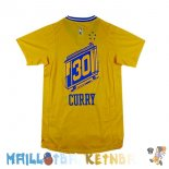 Maillot NBA Golden State Warriors Manche Courte NO.30 Stephen Curry City Jaune Pas Cher