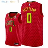 Maillot NBA Atlanta Hawks NO.0 Antonius Cleveland Rouge Statement 2018 Pas Cher