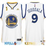Maillot NBA Golden State Warriors 2015 Finales Champions NO.9 Iguodala Blanc Pas Cher