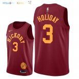 Maillot NBA Indiana Pacers NO.3 Aaron Holiday Nike Retro Bordeaux 2018-2019 Pas Cher