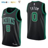 Maillot NBA Boston Celtics NO.0 Jayson Tatum Noir Statement 2017-2018 Pas Cher