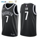 Maillot NBA Brooklyn Nets NO.7 Jeremy Lin Noir Icon 2017-2018 Pas Cher