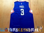 Maillot NBA L.A.Clippers NO.3 Chris Paul Bleu Pas Cher
