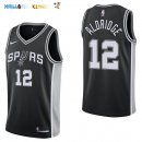 Maillot NBA San Antonio Spurs NO.12 LaMarcus Aldridge Noir Icon 2017-2018 Pas Cher