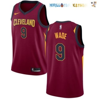 Maillot NBA Cleveland Cavaliers Nike Icon NO.9 Dwyane Wade Bordeaux Pas Cher