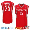 Maillot NBA Houston Rockets NO.25 Chandler Parsons Rouge Pas Cher