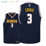 Maillot NBA Enfant Denver Nuggets NO.3 Torrey Craig Marine Icon 2018-19 Pas Cher
