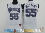 Maillot NBA Sacramento Kings NO.55 Jason Williams Blanc Pas Cher