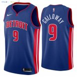 Maillot NBA Detroit Pistons NO.9 Langston Galloway Bleu Icon 2018 Pas Cher