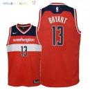 Maillot NBA Enfant Washington Wizards NO.13 Thomas Bryant Rouge Icon 2018 Pas Cher