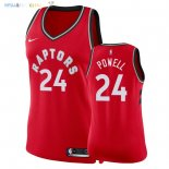 Maillot NBA Femme Toronto Raptors NO.24 Norman Powell Rouge Icon 2018 Pas Cher