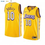 Maillot NBA Nike Los Angeles Lakers NO.10 Jared Dudley Nike Jaune Ville 2019-20