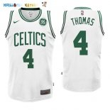 Maillot NBA Boston Celtics NO.4 Isaiah Thomas Blanc 2017-2018 Pas Cher