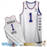 Maillot NBA 2015 All Star NO.1 Derrick Rose Blanc Pas Cher