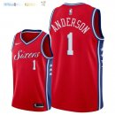Maillot NBA Philadelphia Sixers NO.1 Justin Anderson Rouge Statement 2018 Pas Cher