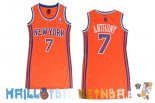 Maillot NBA Femme New York Knicks NO.7 Carmelo Anthony Orange Pas Cher