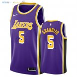 Maillot NBA Los Angeles Lakers NO.5 Tyson Chandler Pourpre Statement 2018-2019 Pas Cher
