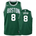 Maillot Enfant Boston Celtics NO.8 Jonathan Gibson Vert Icon 2018-19 Pas Cher