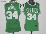 Maillot NBA Femme Boston Celtics NO.34 Paul Pierce Vert Pas Cher