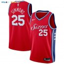 Maillot NBA Enfant Philadelphia Sixers NO.25 Ben Simmons Rouge Statement Pas Cher