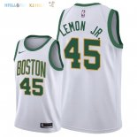 Maillot NBA Boston Celtics NO.45 Walter Lemon Jr Nike Blanc Ville 2018-2019 Pas Cher