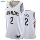 Maillot New Orleans Pelicans NO.2 Lonzo Ball Blanc Association 2019-20