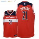 Maillot NBA Enfant Washington Wizards NO.21 Dwight Howard Rouge Icon 2018 Pas Cher
