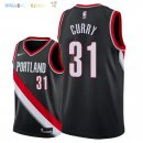 Maillot NBA Portland Trail Blazers NO.31 Seth Curry Noir Icon 2018 Pas Cher