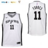 Maillot NBA Enfant San Antonio Spurs NO.11 Bryn Forbes Blanc Association Pas Cher