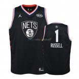 Maillot NBA Enfant 2019 All Star NO.1 D'Angelo Russell Noir Pas Cher