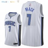 Maillot NBA Orlando Magic NO.7 Shelvin Mack Blanc Association 2018 Pas Cher