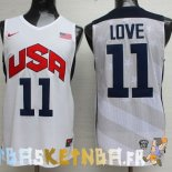 Maillot NBA 2012 USA Kevin Love NO.11 Blanc Pas Cher