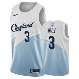 Maillot Earned Edition Cleveland Cavaliers NO.3 George Hill Bleu 2018-19