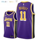Maillot NBA Los Angeles Lakers NO.11 Michael Beasley Pourpre Statement 2018-2019 Pas Cher