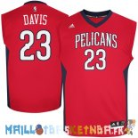 Maillot NBA New Orleans Pelicans NO.23 Anthony Davis Rouge Pas Cher