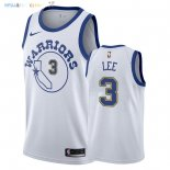 Maillot NBA Golden State Warriors NO.3 Damion Lee Nike Retro Blanc 2018 Pas Cher