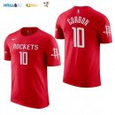 Maillot NBA Houston Rockets Manche Courte NO.10 Eric Gordon Rouge 2017-2018 Pas Cher