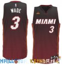 Maillot NBA Miami Heat retentisse Fashion NO.3 Wade Rouge Pas Cher