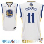 Maillot NBA Golden State Warriors NO.11 Klay Thompson Blanc Pas Cher