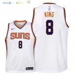Maillot NBA Enfant Phoenix Suns NO.8 George King Blanc Association 2018 Pas Cher