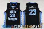 Maillot NCAA Enfants North Carolina NO.23 Michael Jordan Noir Pas Cher