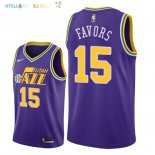 Maillot NBA Utah Jazz NO.15 Derrick Favors Retro Pourpre 2018 Pas Cher