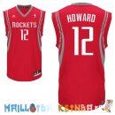 Maillot NBA Houston Rockets NO.12 Dwight Howard Rouge Pas Cher