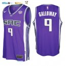 Maillot NBA Sacramento Kings NO.9 Langston Galloway Pourpre 2017-2018 Pas Cher